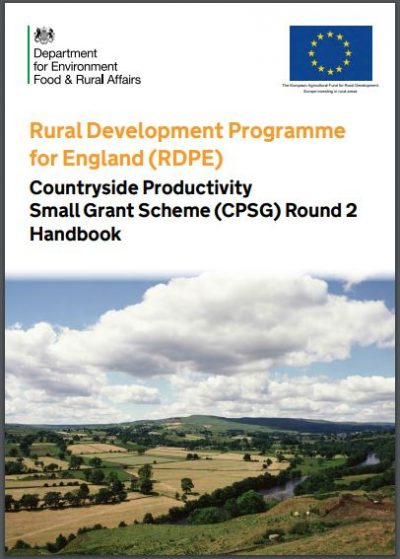 RDPE – Countryside Productivity Small Grant Scheme (CPSG
