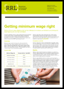 RRL Getting minimum wage right